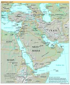 River Map Of Middle East - Viewing Gallery