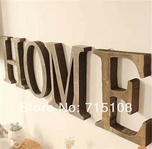 Aliexpresscom buy vintage wooden letter free standing for Where to buy large letters for wall