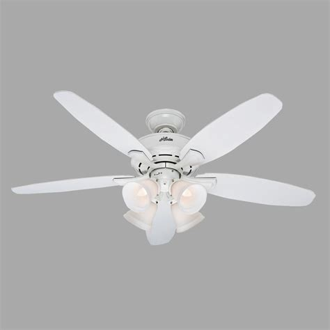 Hunter Landry 52 In Indoor White Ceiling Fan With Light