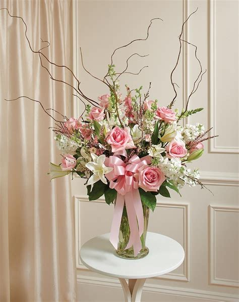 Flower Arrangements In A Vase by Cranford Florist And Gifts S Beautiful Blessings Pink Vase