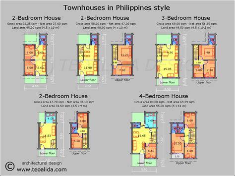 row house floor plan philippines
