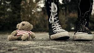 Lonely Girl And Sad Teddy Bear Wallpaper DreamLoveWallpapers