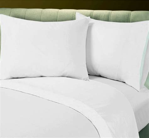 1 new white queen size 90x110 flat bed sheet t200 percale hotel linen ebay