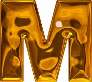 presentation alphabets lumpy gold letter m With gold letter m