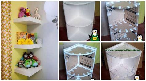 cardboard corner shelf simple craft ideas
