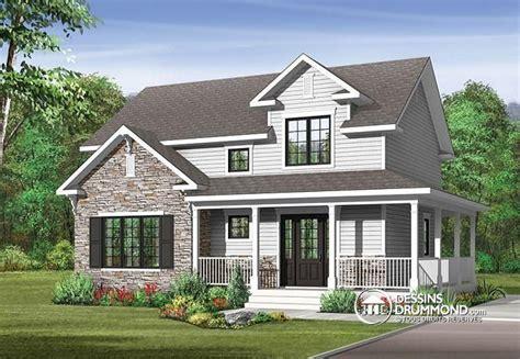 w3721 plan de maison style transitionnel grand