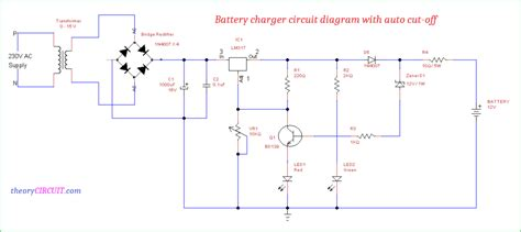 Battery Charger Circuit Diagram With Auto Cut Off