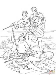 King Saul Disobedience Free Coloring Pages