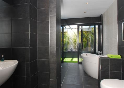 grey wall tiles  bathroom ideas  pictures
