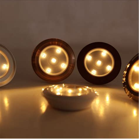wireless led puck lights battery powered 3528smd warm