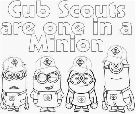 cub scout coloring pages cub scout coloring pages cub scout minions prin