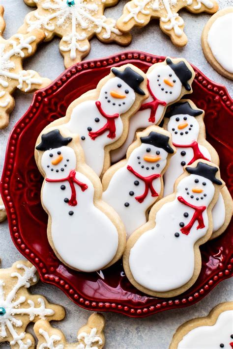 Baking cookies is one of our most beloved christmas traditions: Snowman Sugar Cookies | Sally's Baking Addiction