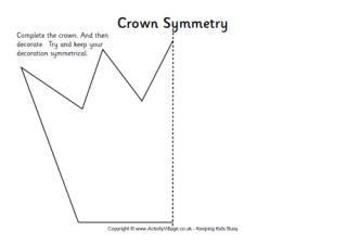 crown symmetry worksheet