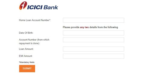 icici bank home loan statement  loan