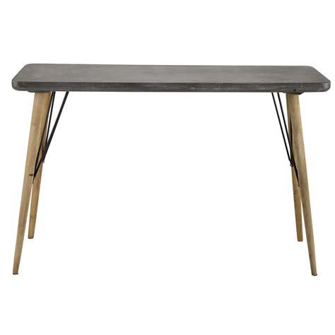table console en bois grise   cm cleveland maisons du monde
