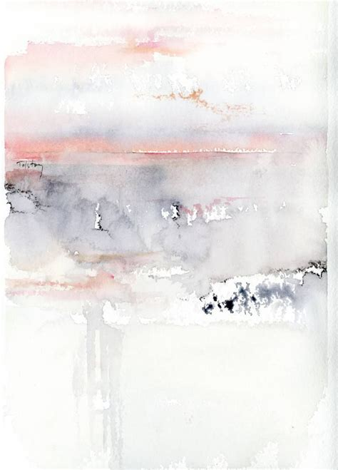 Abstract Black Watercolor by Buy Pink Sky A Watercolor On Paper By Alex Tolstoy From