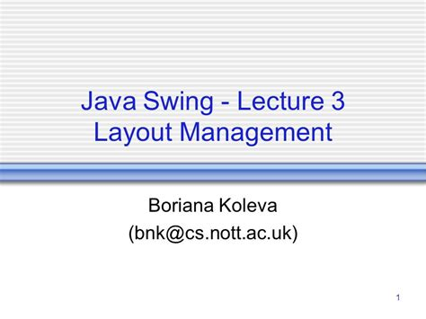 java swing layout java swing lecture 3 layout management ppt