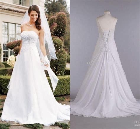 white chiffon wedding dresses plus size bridal