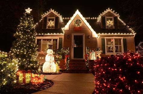 residential holiday light displays   rock ar
