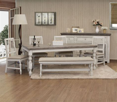 stone rectangular dining room set  white gray  ifd