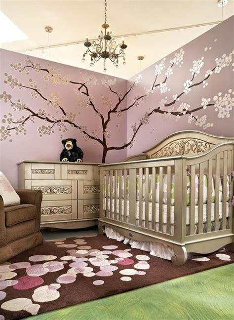 dessin mural chambre la peinture chambre bébé 70 idées sympas dessin mural