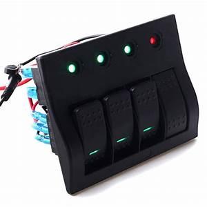 China 4 Pin Rocker Switch Panel 4 Gang Led Light Indicator