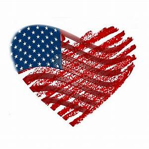 American Flag Heart Graphic - Downloadable Image