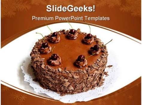 chocolate cake health powerpoint templates  powerpoint