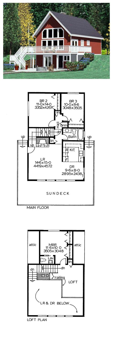 hillside house plans hillside house plan 90822 total living area 1263 sq ft