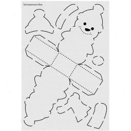 design schablone nr  schneemann box din   mas