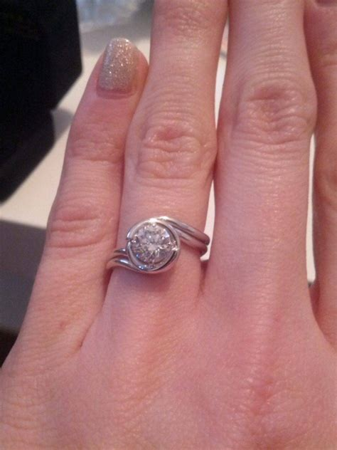 15 ideas of custom wedding bands to fit engagement ring