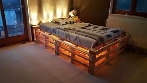 Bett Mit Led Beleuchtung 160x200 : europaletten bett ganz einfach selber bauen ausf hrliche anleitung ~ Whattoseeinmadrid.com Haus und Dekorationen