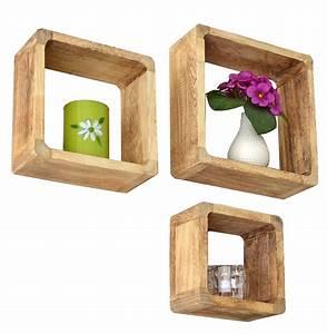 Küchen Regal : 3er set landhaus stil cube regal wand h nge k chenregal ~ Pilothousefishingboats.com Haus und Dekorationen