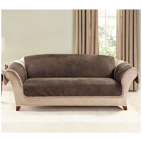 slipcover for leather sofa sure fit leather furn sofa slipcover 581243