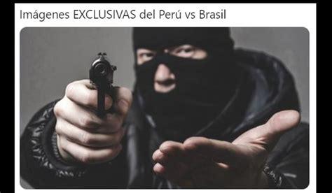 peru  brasil memes reacciones en redes tras bascunan