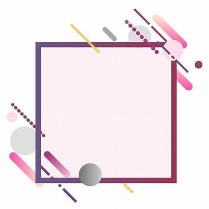 Frame Square Banner Vector Modern Colorful Illustration