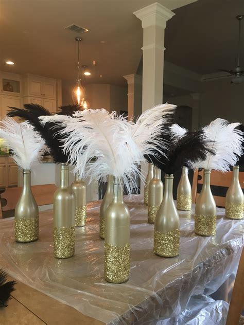 art deco gatsby party roaring 20 s centerpieces diy