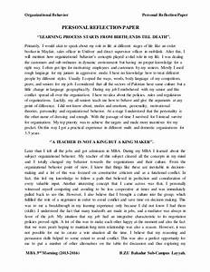 reflective letter format the best letter sample With reflection letter