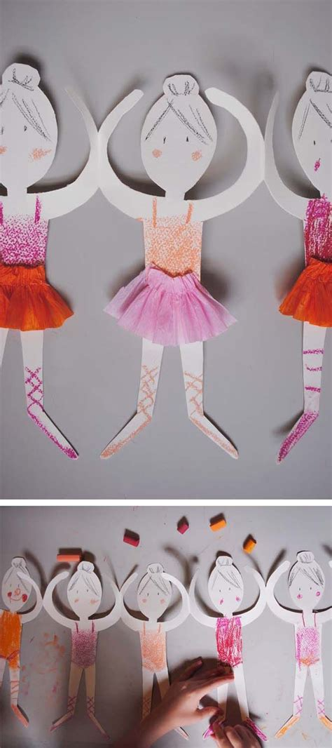 paper doll chain ballerinas pictures   images