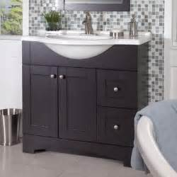glacier bay del mar 36 in w vanity with ab engineered