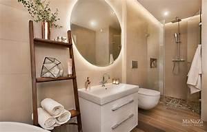 salle de bain beige blanc With salle de bain beige et bois
