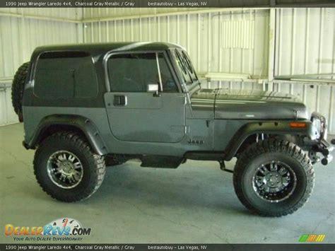 jeep gray wrangler 1990 jeep wrangler laredo 4x4 charcoal gray metallic
