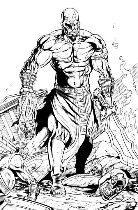 Kratos God Of War Tim Seeley Video Game Art God Of