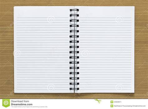 Open Spiral Notebook Stock Photo  Image 54622871