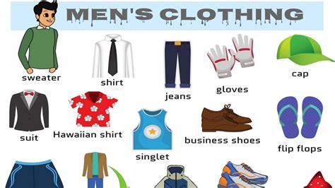 Learn Men's Clothing Vocabulary In English