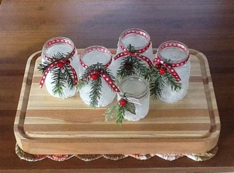 icy candle jars christmas decoration crafts crafts