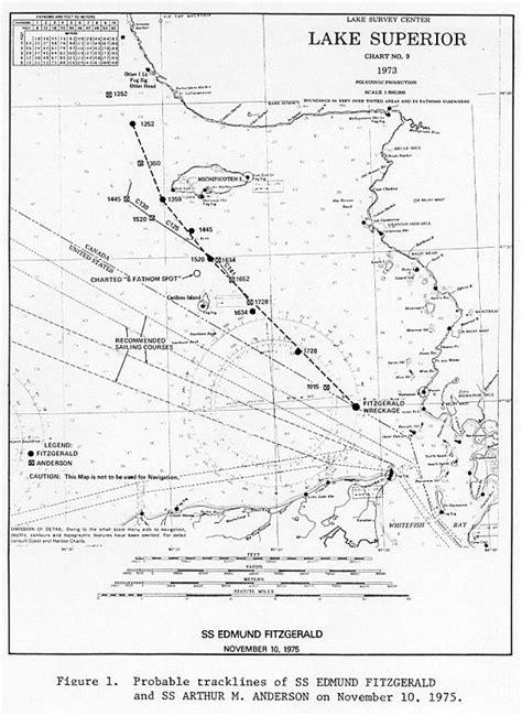 edmund fitzgerald sinking location edmund fitzgerald map images