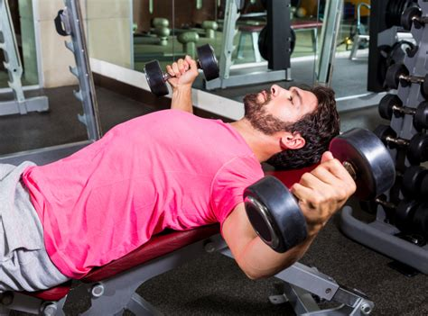 90 Pound Dumbbell Bench Press by 10 Easy Exercises That Work Better Than Push Ups