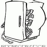 Coloring Refrigerator sketch template
