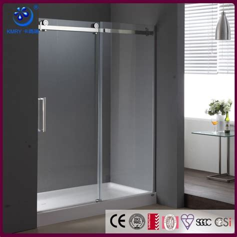custom clear glass frameless sliding shower door